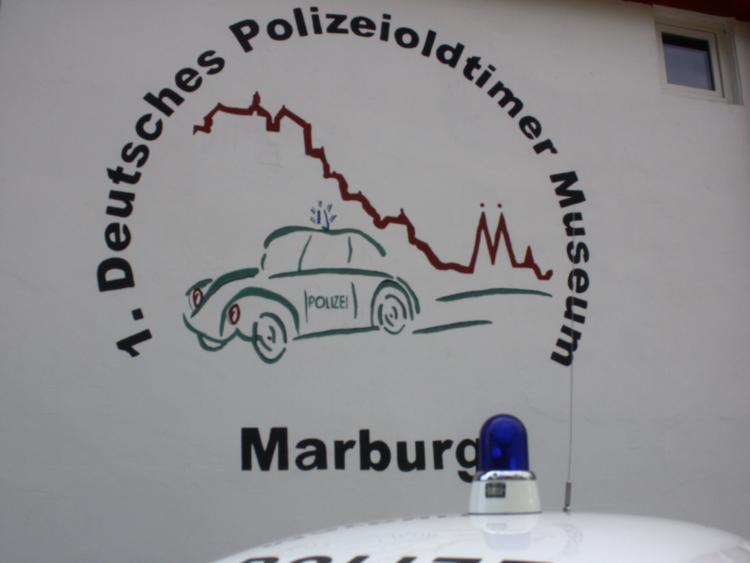 Oldtimer Museum der Fahrzeuge von der Polizei